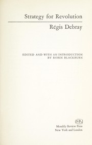 Cover of: Strategy for revolution