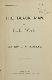 Cover of: The black man and the war ...