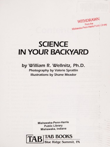 Science in your backyard by William R. Wellnitz