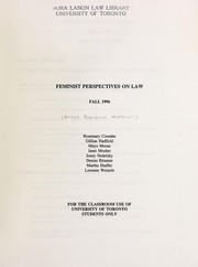Cover of: Feminist perspectives on law