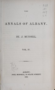 Cover of: The annals of Albany | Joel Munsell
