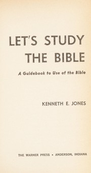 Cover of: Let's Study the Bible |