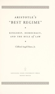 "Cover of: Aristotle's ""best regime"" 