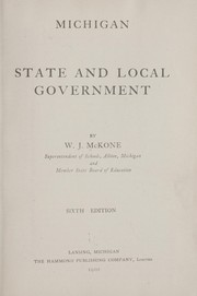 Cover of: Michigan state and local government | William James McKone