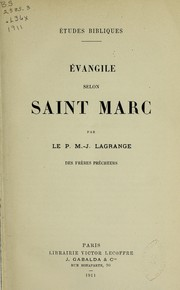 Cover of: Evangile selon Saint Marc