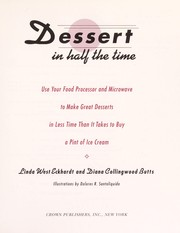 Cover of: Dessert in half the time