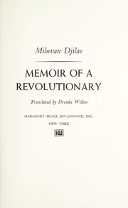 Cover of: Memoir of a revolutionary