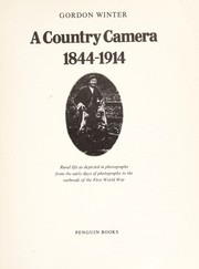 Cover of: A country camera, 1844-1914