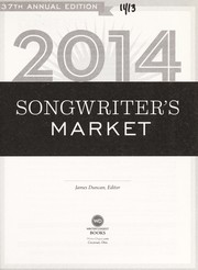 Cover of: 2014 songwriter's market | Duncan, James (Editor)