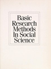 Cover of: Basic research methods in social science