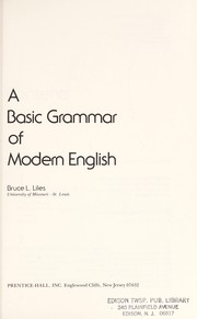 Cover of: A basic grammar of modern English