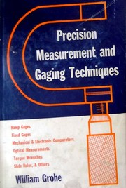 Cover of: Precision measurment and gaging techniques
