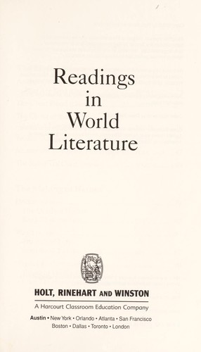 Readings in World Literature by