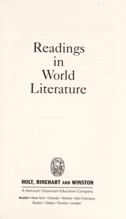 Cover of: Readings in World Literature |