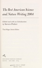 Cover of: The best American science and nature writing, 2004