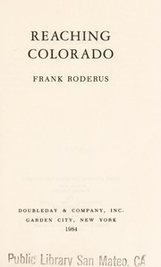 Cover of: Reaching Colorado