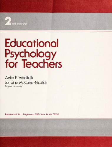 Educational psychology for teachers by Anita Woolfolk Hoy