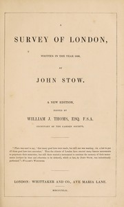Cover of: A survey of London