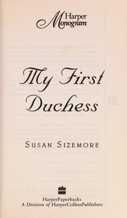 Cover of: My First Duchess