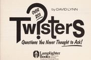Cover of: Twisters | David Lynn