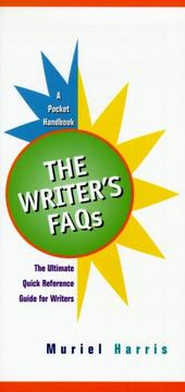 Cover of: The Writer's FAQs Pocket Handbook