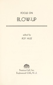 Cover of: Focus on Blow-up | Roy Huss