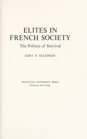 Cover of: Elites in French society