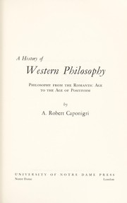 Cover of: History of Western Philosophy