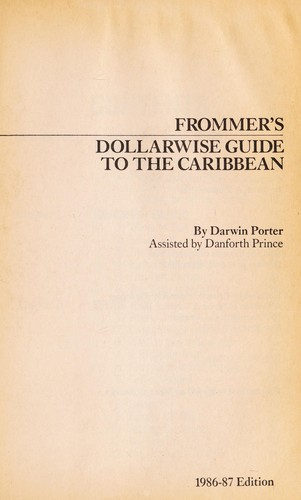 Dollarwise Guide to the Carribean by Darwin Porter