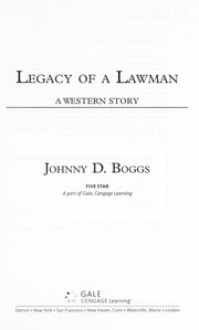 Cover of: Legacy of a lawman