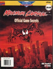 Cover of: Maximum Carnage: Official Game Secrets | Ed Dille