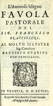 Cover of: L'amoroso sdegno