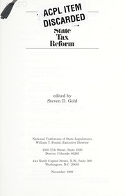 Cover of: Unfinished Agenda for State Tax Reform | Steven Gold