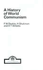 Cover of: A history of world communism | Frederick William Dampier Deakin