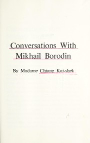Cover of: Conversations with Mikhail Borodin