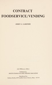 Cover of: Contract foodservice/vending