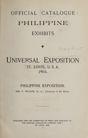 Cover of: Official catalogue Philippine exhibits