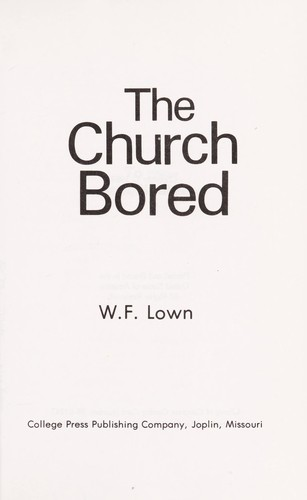 The church bored by W. F Lown