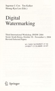 Cover of: Digitial watermarking