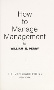 Cover of: How to manage management