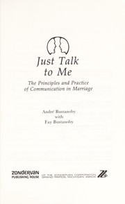 Cover of: Just talk to me | André Bustanoby