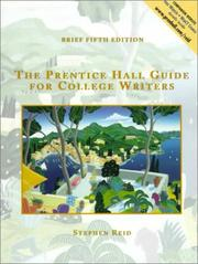 Cover of: The Prentice Hall Guide for College Writers Brief Edition, without Handbook
