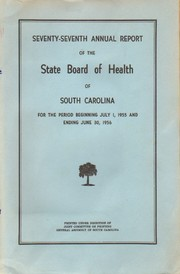Cover of: Seventy-Seventh Annual Report of the State Board of Health of South Carolina |