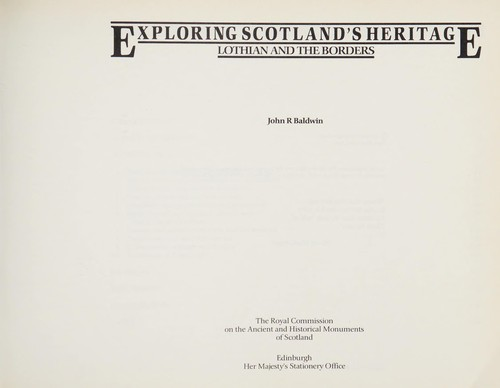 Lothian and the Borders by Baldwin, John R.