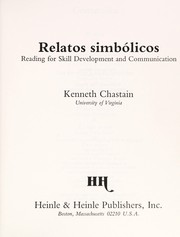 Cover of: Relatos Simbolicos | K. Chastain