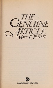 Cover of: The Genuine Article | Mary E. Butler