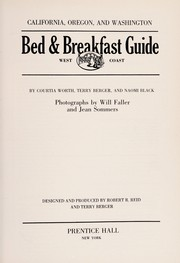 Cover of: West Coast bed & breakfast guide | Courtia Worth