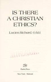 Cover of: Is there a Christian ethics?