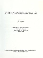 Cover of: Women's rights in international law