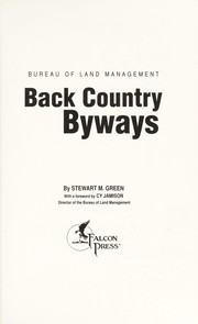 Cover of: Back country byways